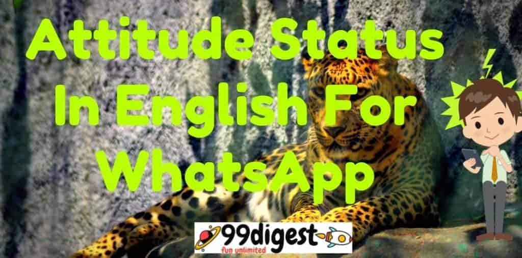 Best Attitude Status In English For WhatsApp