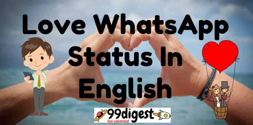 Best Love WhatsApp Status In English For Your Love