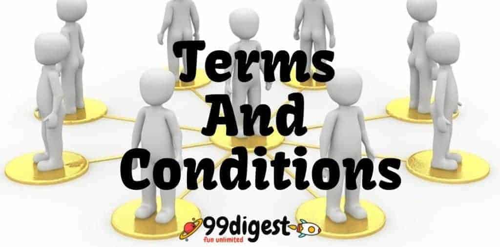 Terms And Conditions Of 99Digest.com